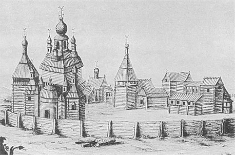 Мужской монастырь из дерева в Торжке
