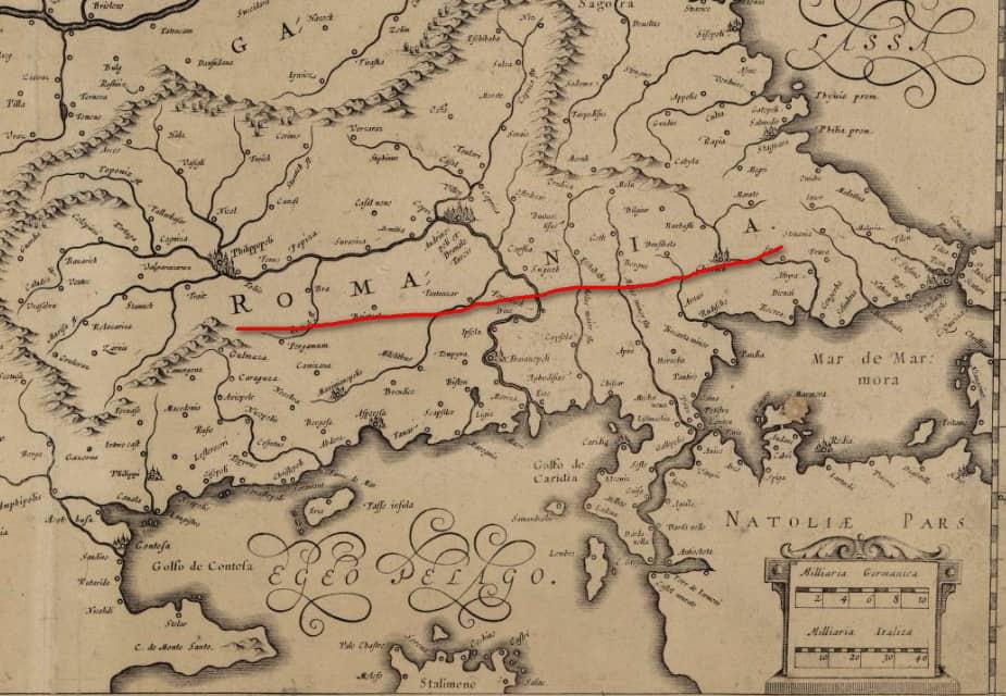 Карта Римской империи Меркатора