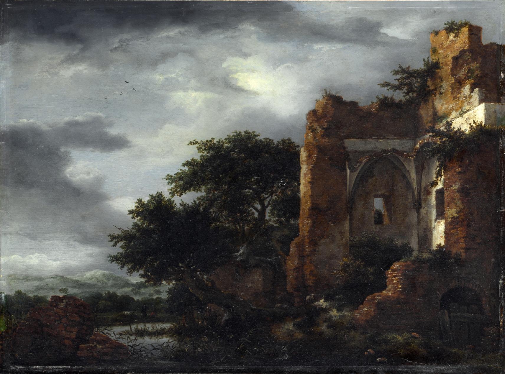 Ruins in a Dune Landscape Якоб Ван Руисдаель.