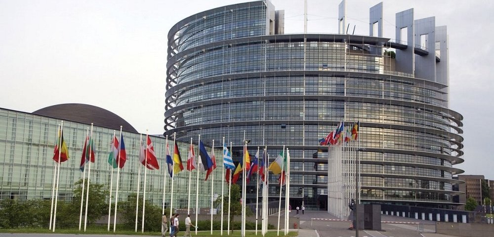 Здание Европарламента в Брюсселе.
