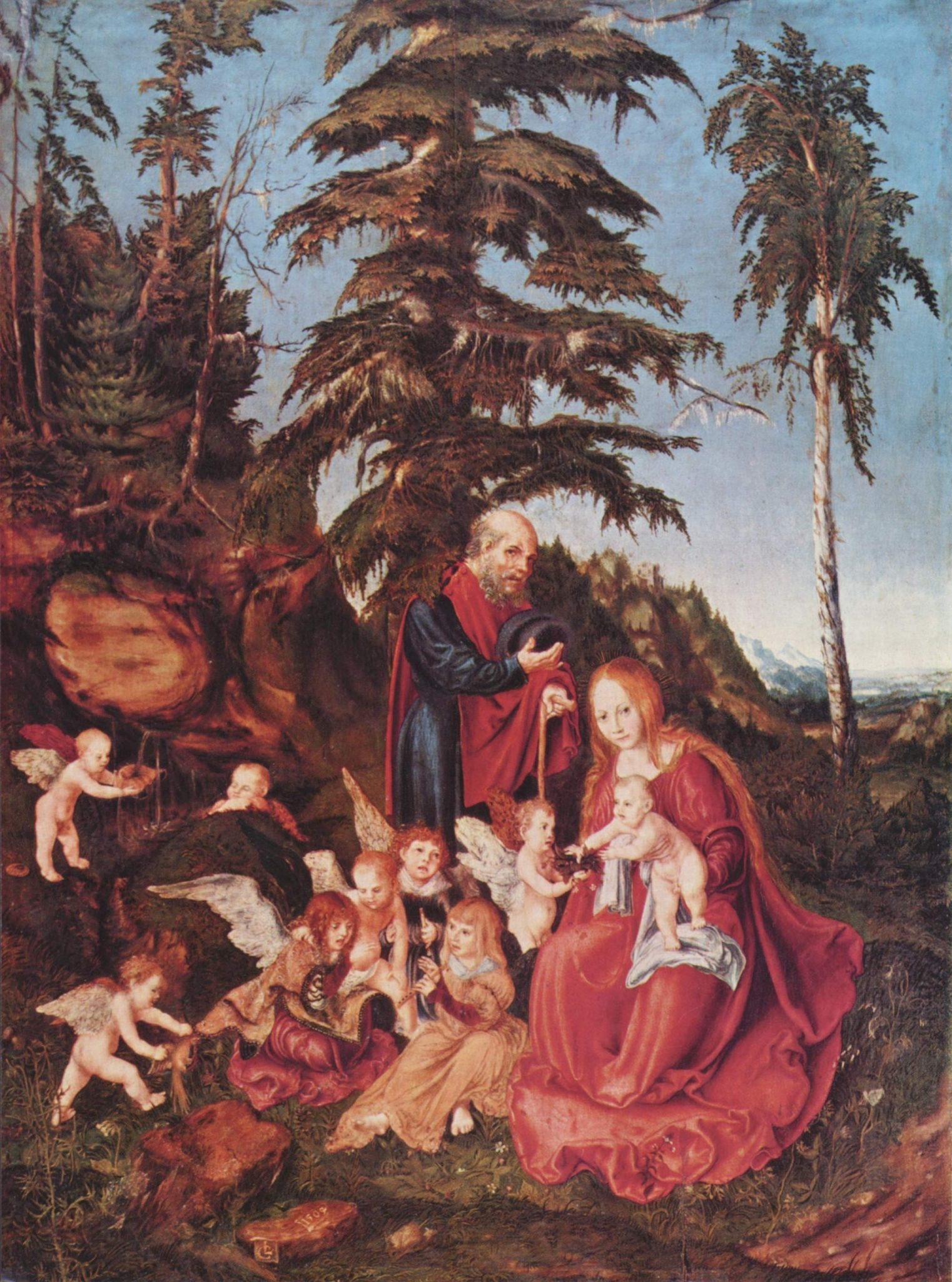 Лукас Кранах Старший-Бегство в Египет 1504