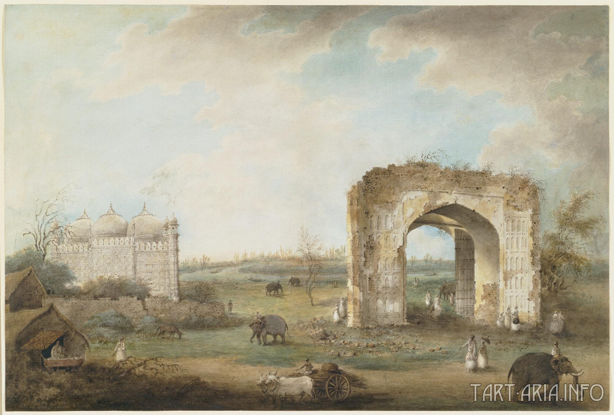 Мечеть и ворота.