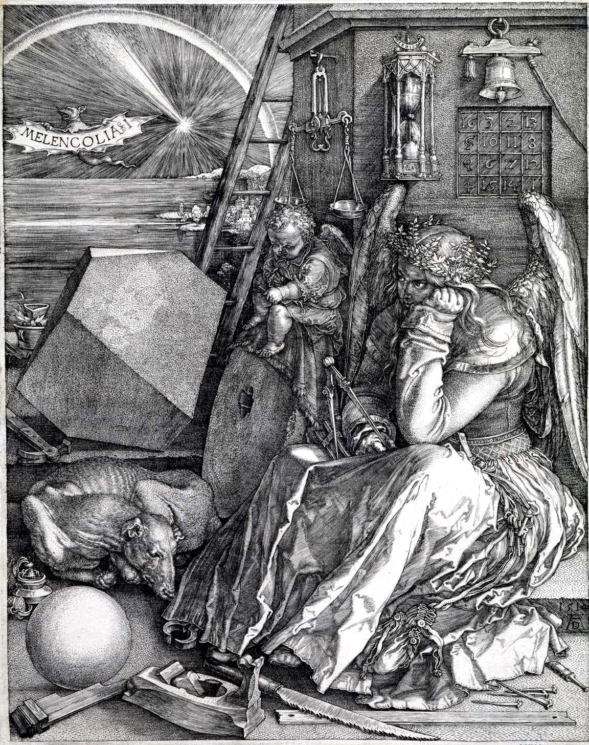 Меланхолия. А.Дюрер 1513г.