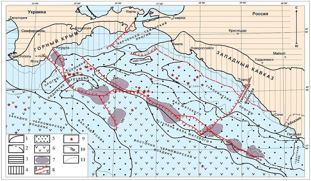 Схема Туапсинского прогиба