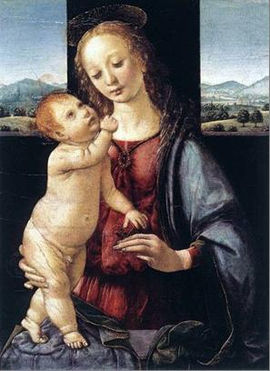 Мадонна с гранатом Леонардо да Винчи