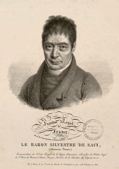 Antoine Isaac Silvestre de Sacy