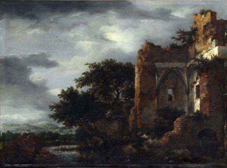 7. Jacob van Ruisdael: Ruiny v krajině