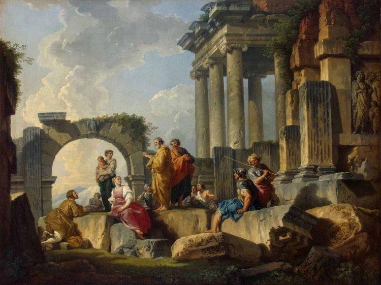 Giovanni Paolo Panini: Apoštol Pavel káže na ruinách (Apoštol Pavel v Areopagu)