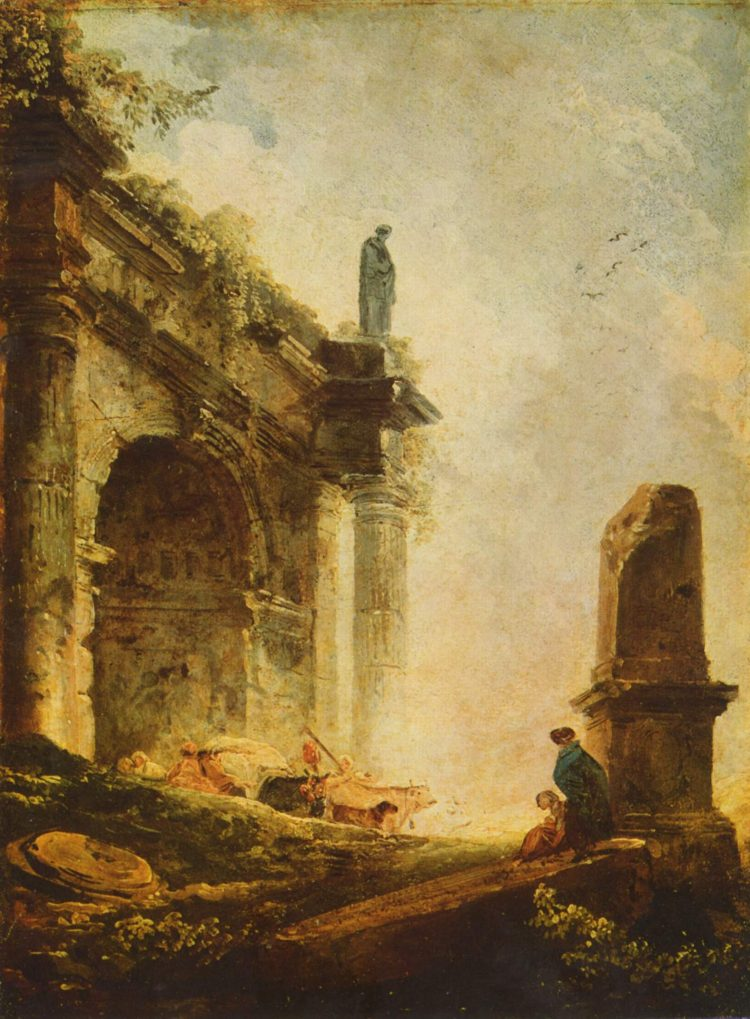 Hubert Robert, Ancient temple, 1787