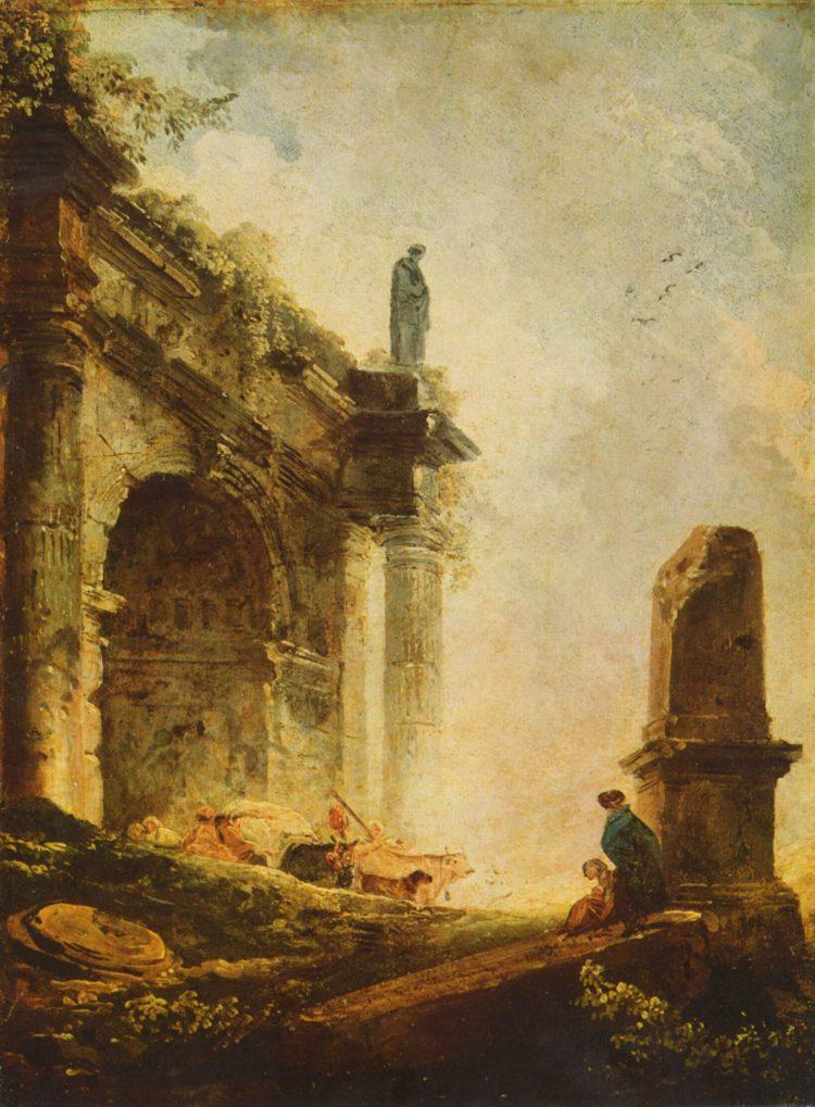 Hubert Robert, Ancient temple, 1787