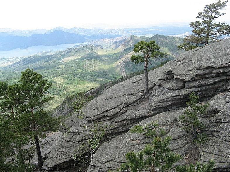 Blick vom Berg Akbet – Вид с горы Акбет