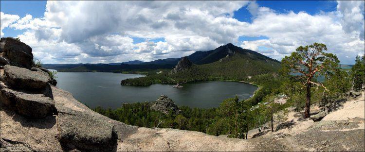 Der See Borowoje. Kasachstan, Autor des Fotos: Pjotr Uschanow.