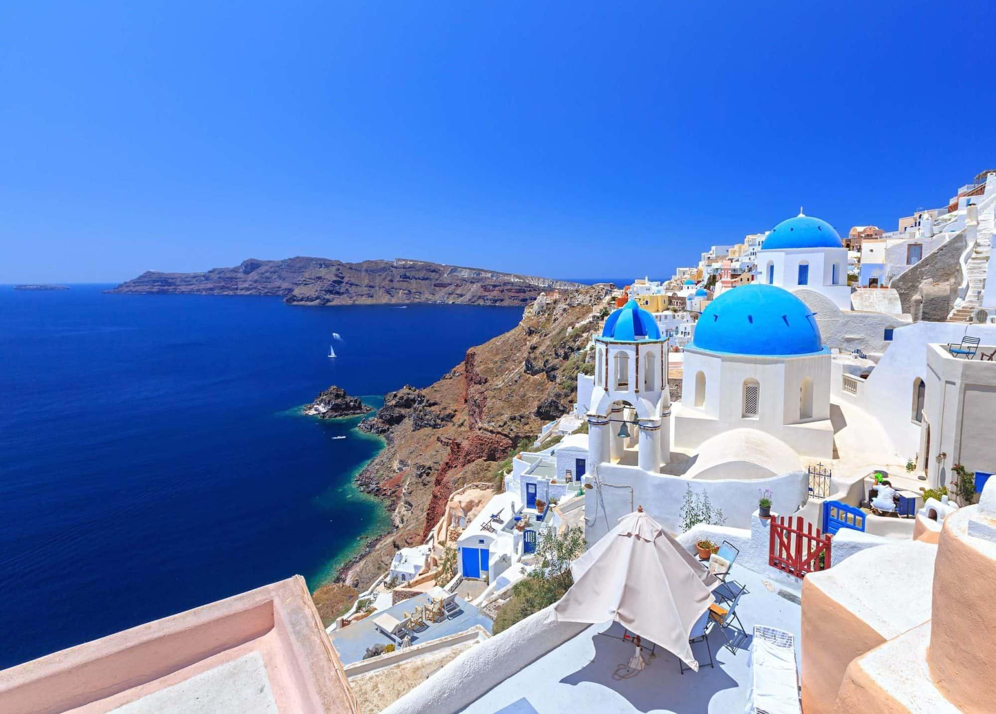 Остров Санторини. Кикладские острова, Греция.