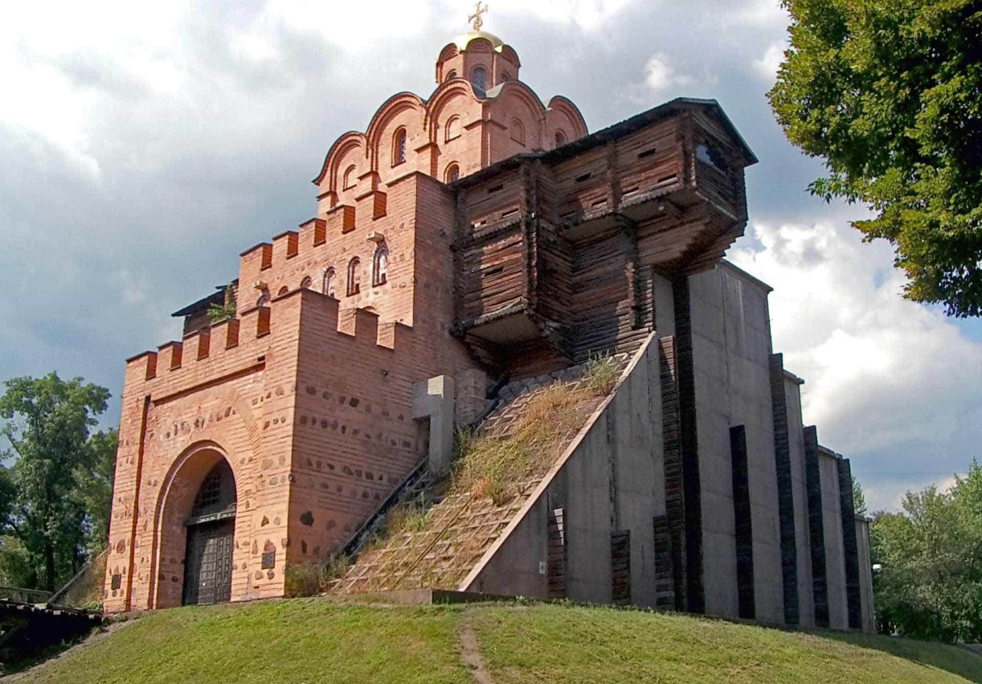 das Goldene Tor. Kiew. Denkmal der russischen Verteidigungsarchitektur