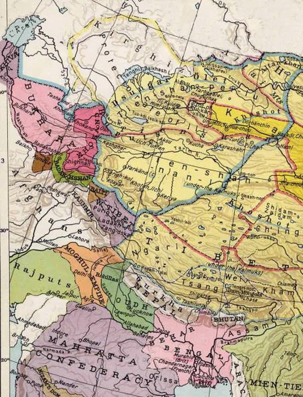 Chagatai Khanate at 1860