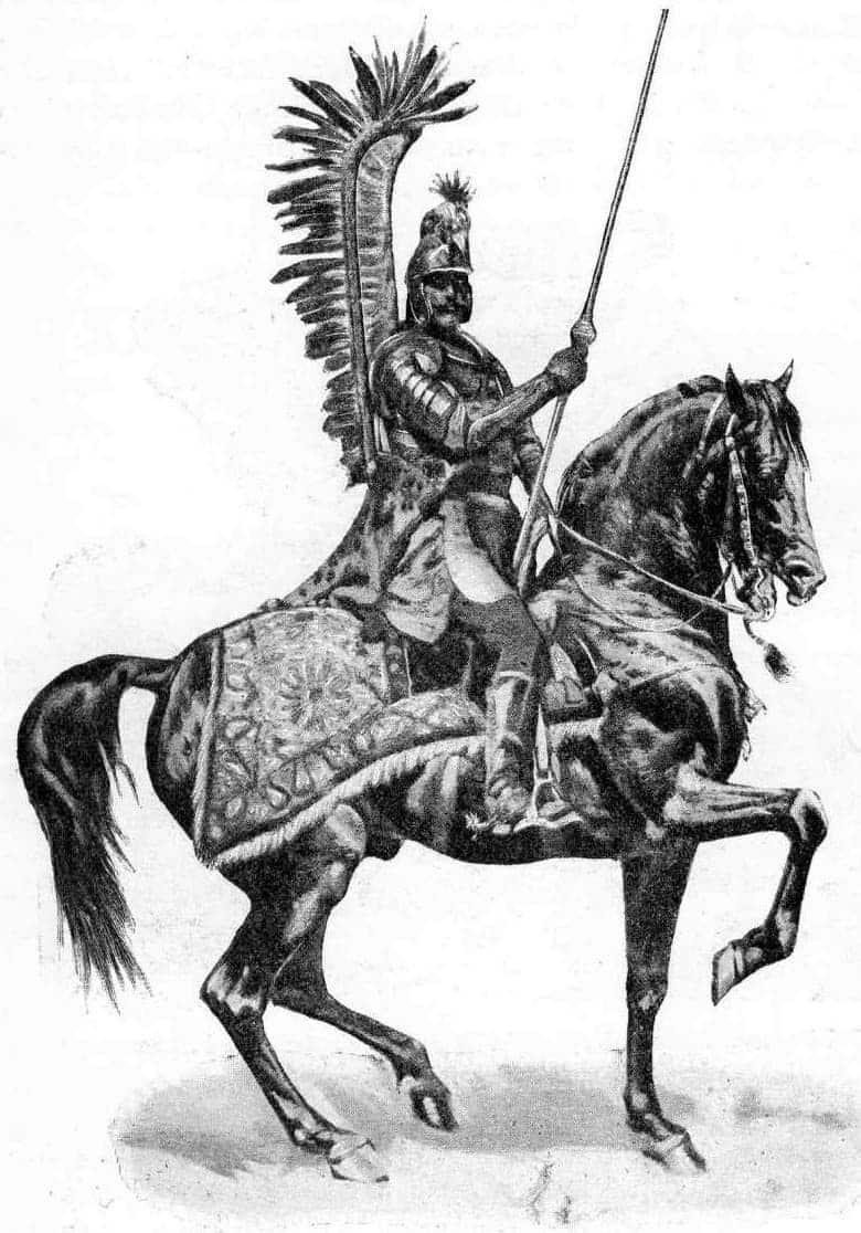 Товарищ от гусарии. Стефано Делла Белла. Гравюра. 1645г.