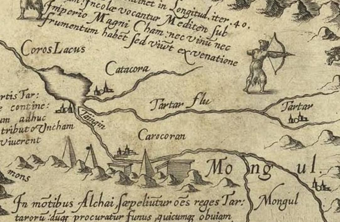 Фрагмент Карты Даниэля Келлнра 1590г.