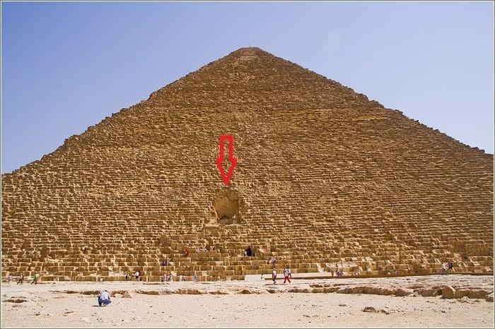 Заложенная арка Пирамиды.