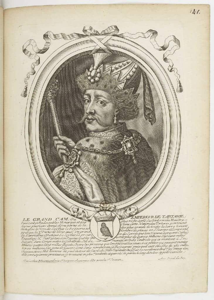 Velký Chán Tartárie, Nicolas de Larmessin, 1690