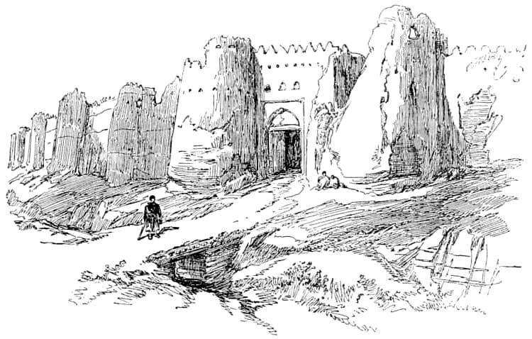 Chorezm, kresba neznámého umělce, 1891
