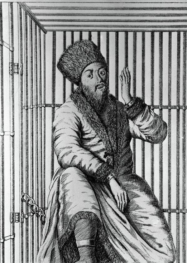 Пленённый Емельян Пугачёв