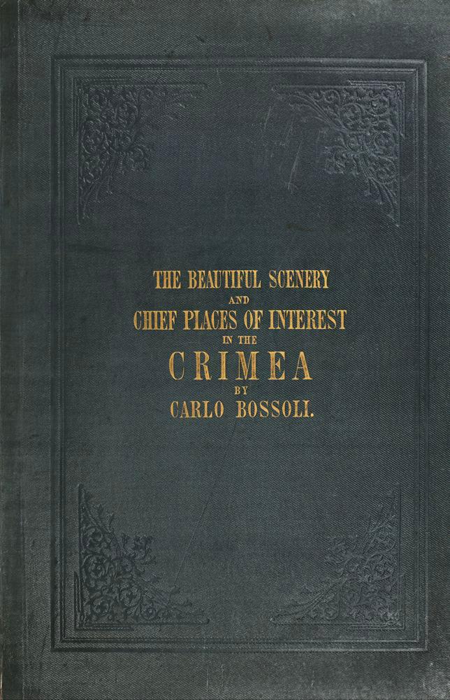 """Obálka alba Carlo Bossoliho """"""""Krajiny a památky Krymu"""""""