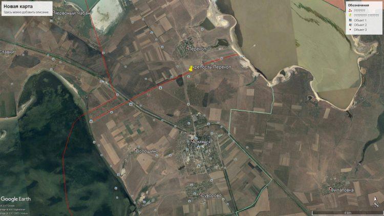 Pěrekop, Mapa Google