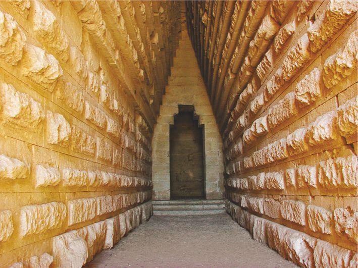 Mohyla Mitridata, Královská mohyla – fotografie vchodu