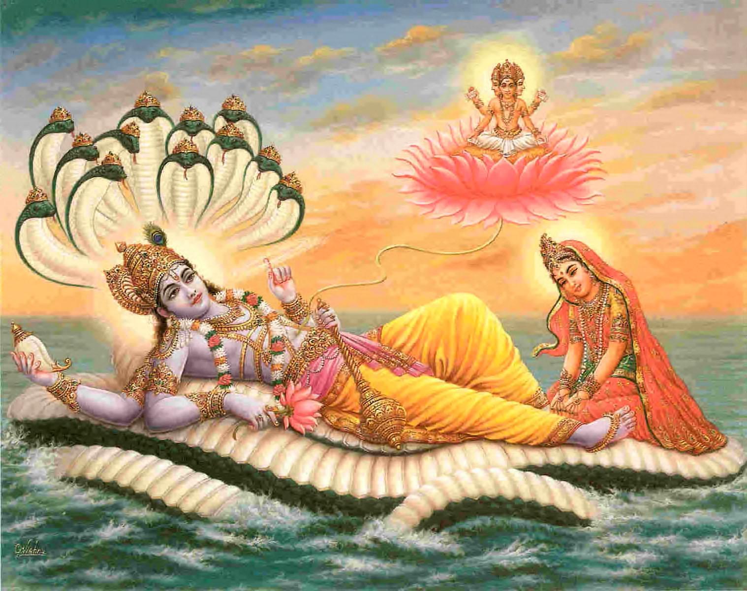 Lord Vishnu laxmi photo download