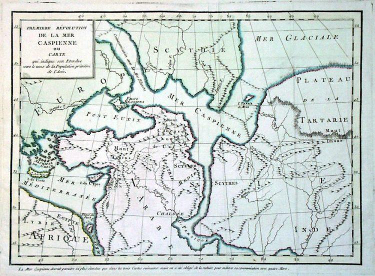Средневековая реконструкция послепотопной географии Евразии