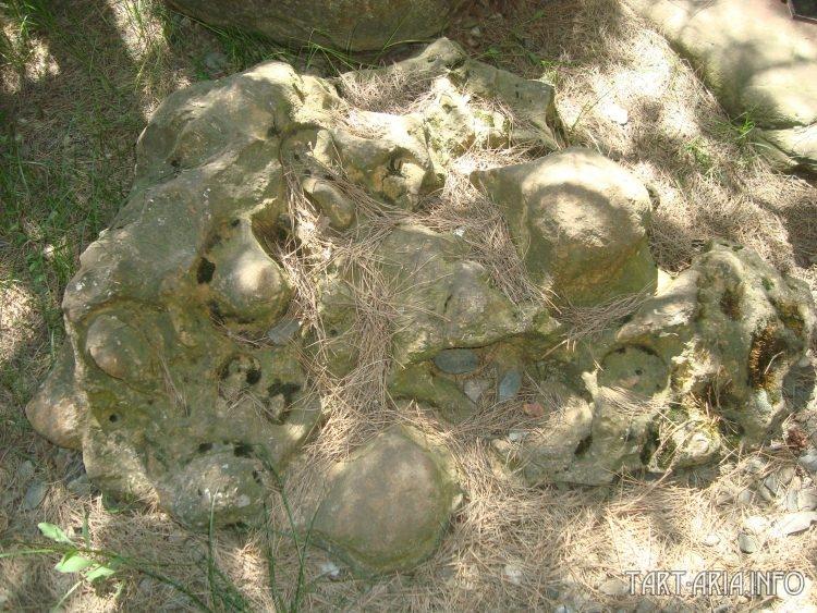 Конгломерат, напоминающий бракованную отливку из цементного раствора.