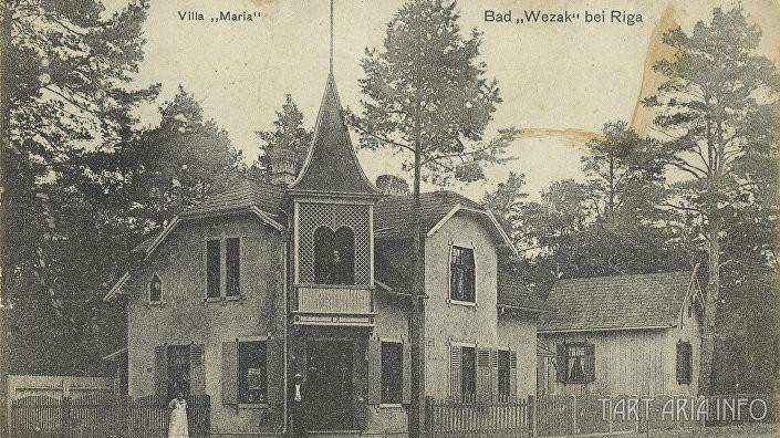 Курорт Вецаки (нем. Wezak) на побережье Рижского залива, фото начала ХХ века.