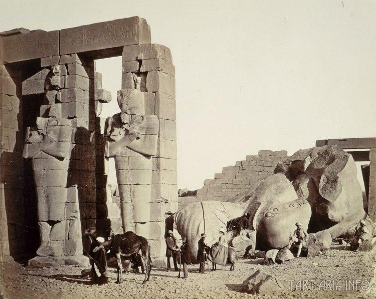 1857 г. Фивы, Рамессиум