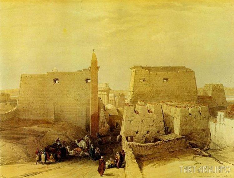 Большой вход в храм Луксор. Дэвид Робертс.