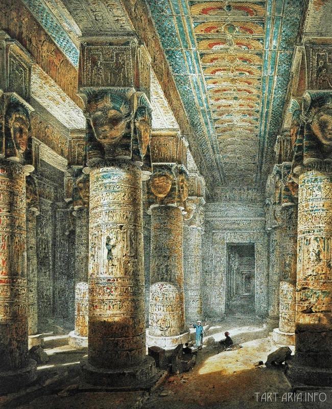 Денндера, храм Хатхор колонны