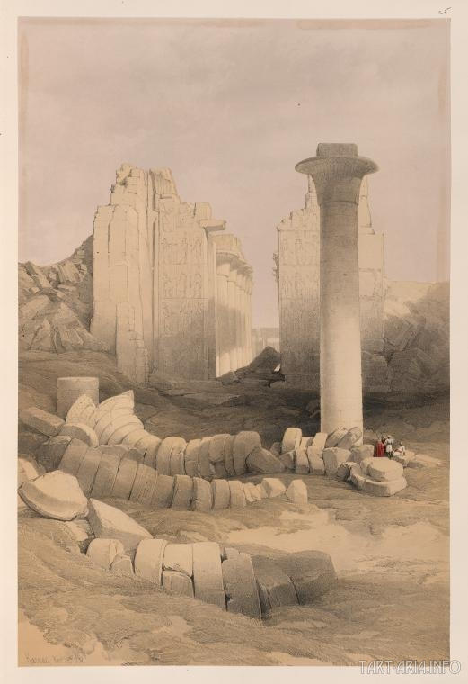 Фивы, Карнак 1838 г.