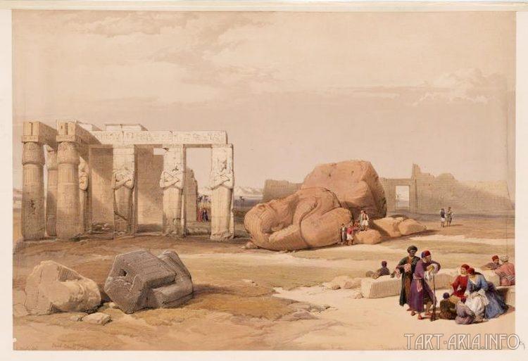 Фрагмент великого Мемнона в Фивах