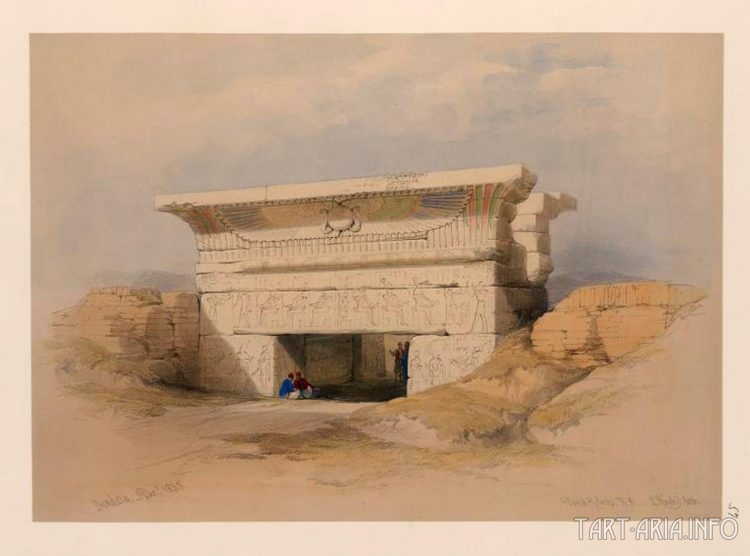 Храм в Дендере. Девид Робертс