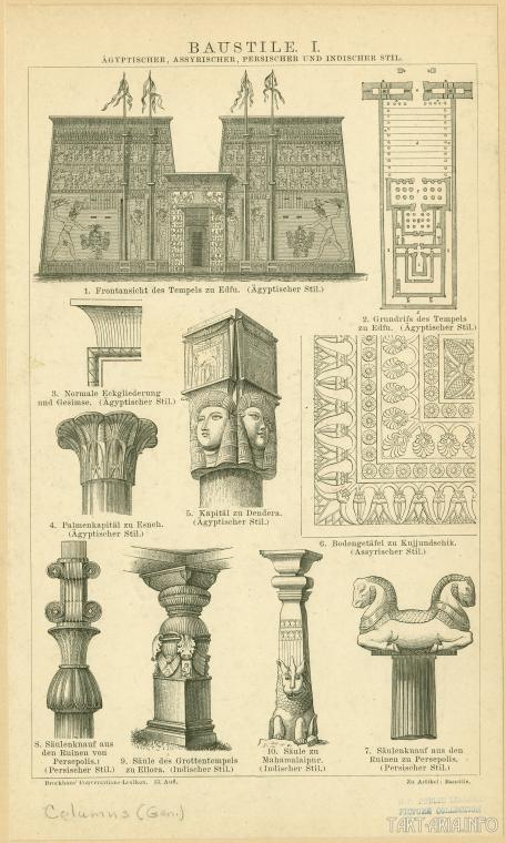Храм в Дендере хатхорическая колоннна