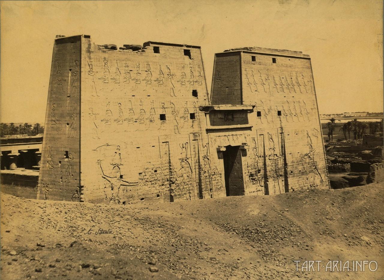 Эдфу, храм Гора 1858 г.