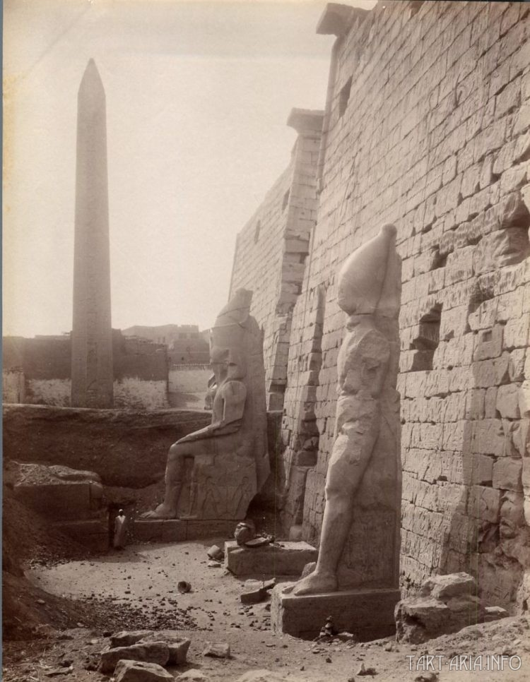 Луксор, Колосы Мемнона 1870 г.