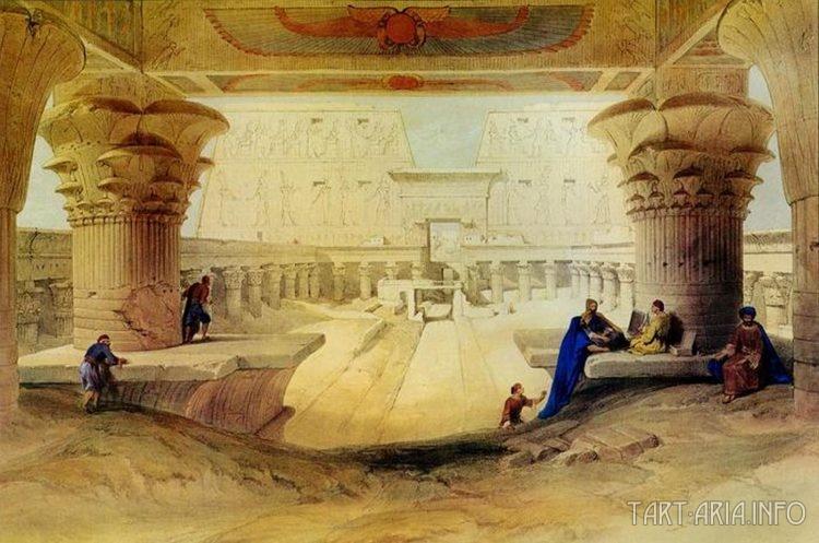 Взгляд из под портика храма Эдфу