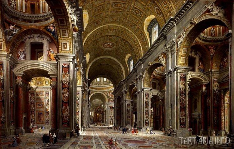 Джованни Паоло Панини. Собор Св. Петра в Риме. 1731г.