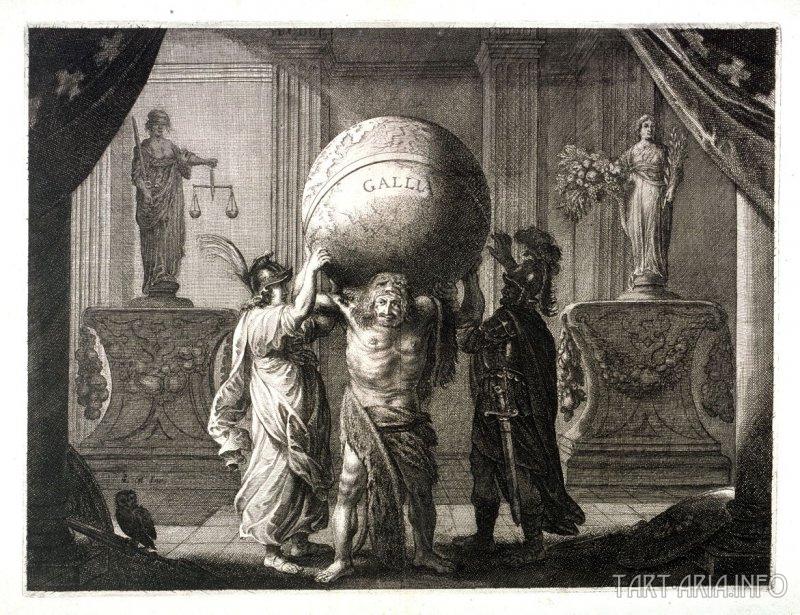 Людовик XIII держит земной шар, Питер Нолпе, 1638 Источник