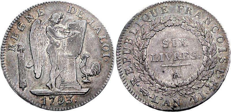 Экю в 6 фунтов, монета 1793 года, источник