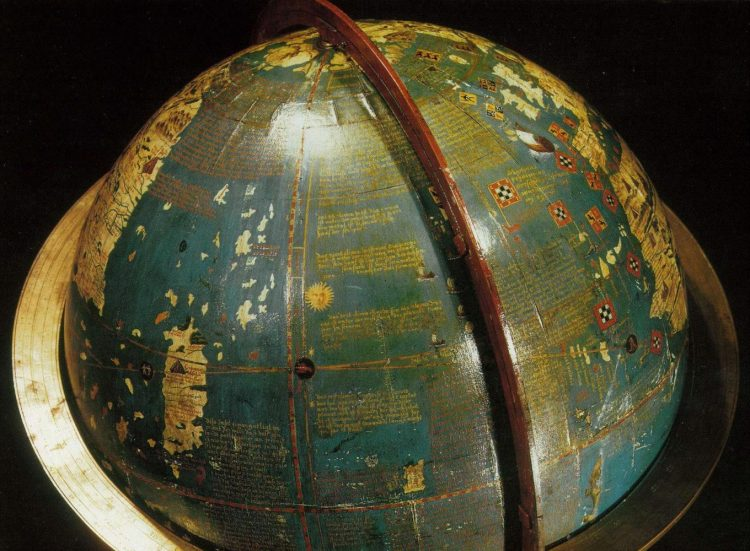 Глобус Мартина Бехайма, Нюрнберг, 1492 год. Источник