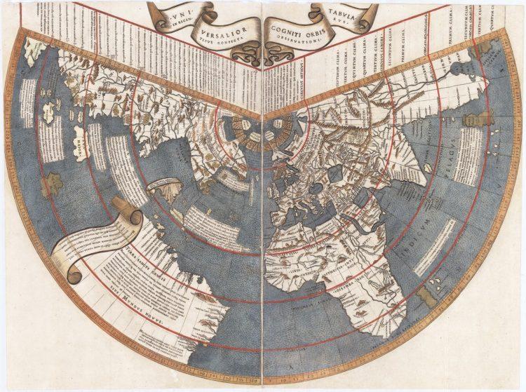 Universalior cogniti obris tabula, Johannes Ruysch, 1507. Источник