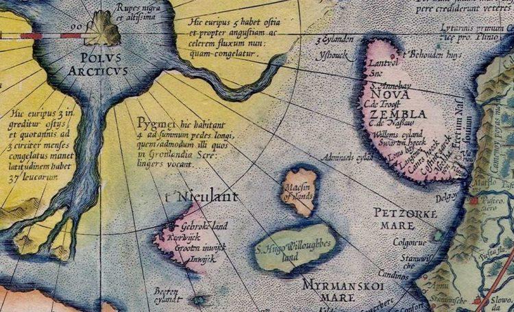 Фрагмент карты Меркатора