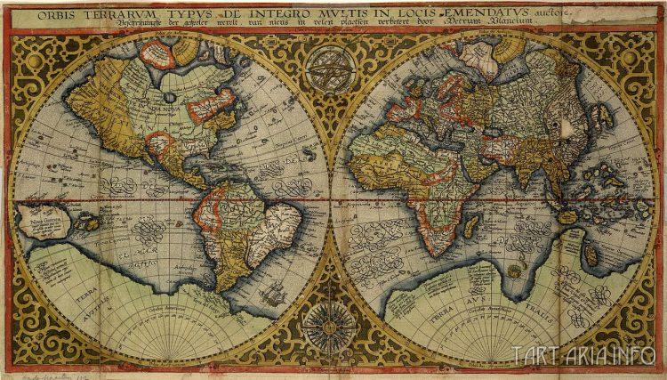 Orbis Terrarum, Petrus Plancius, 1590г. Источник