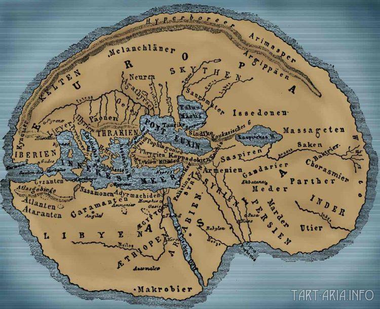 Реконструкция карты мира в представлении древних